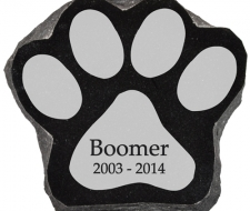 Lazer Engraved Dog Paw Print Memorial