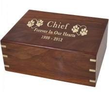 Engraved Wood Pet Urns