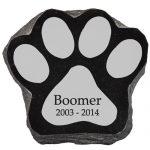 Lazer Engraved Dog Paw Print Memorial